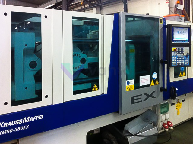 KRAUSS MAFFEI EX 80 / 380 80t all-electric injection molding machine (2008) id4001
