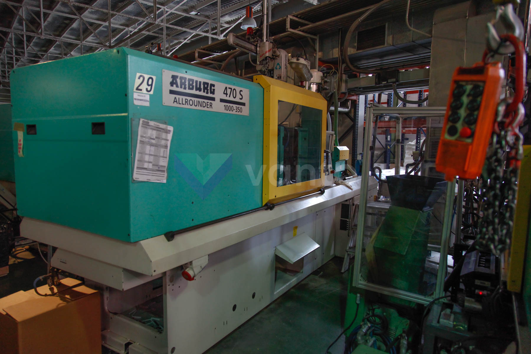 ARBURG 470 S ALLROUNDER 1000 - 350 100t injection molding machine (2000) id4542