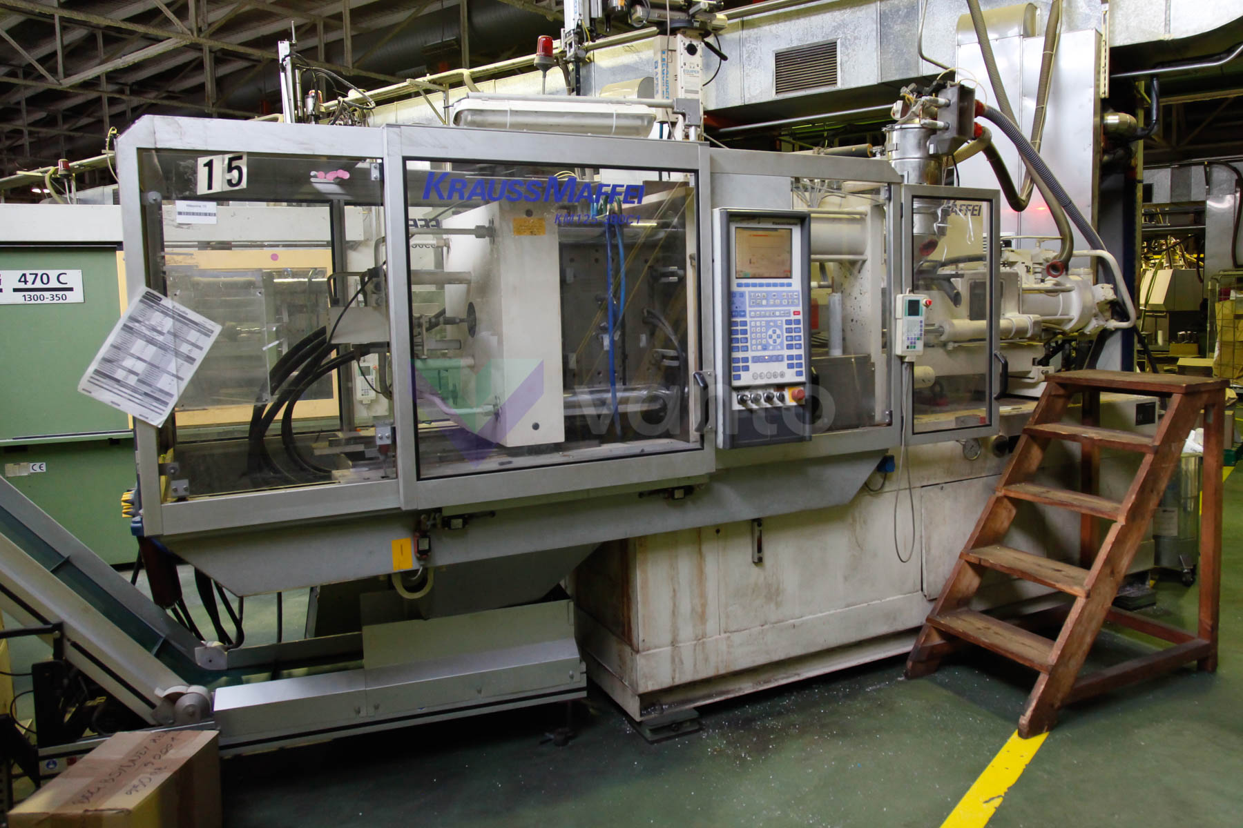 KRAUSS MAFFEI KM 125 - 390 CI 125t injection molding machine (1999) id4538