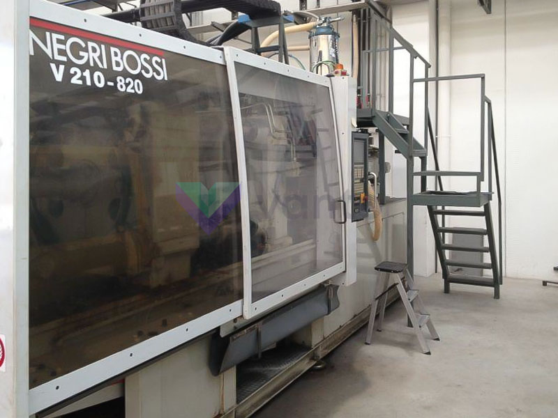 NEGRI BOSSI CANBIO V 210 - 820 210t injection molding machine (2001) id4664