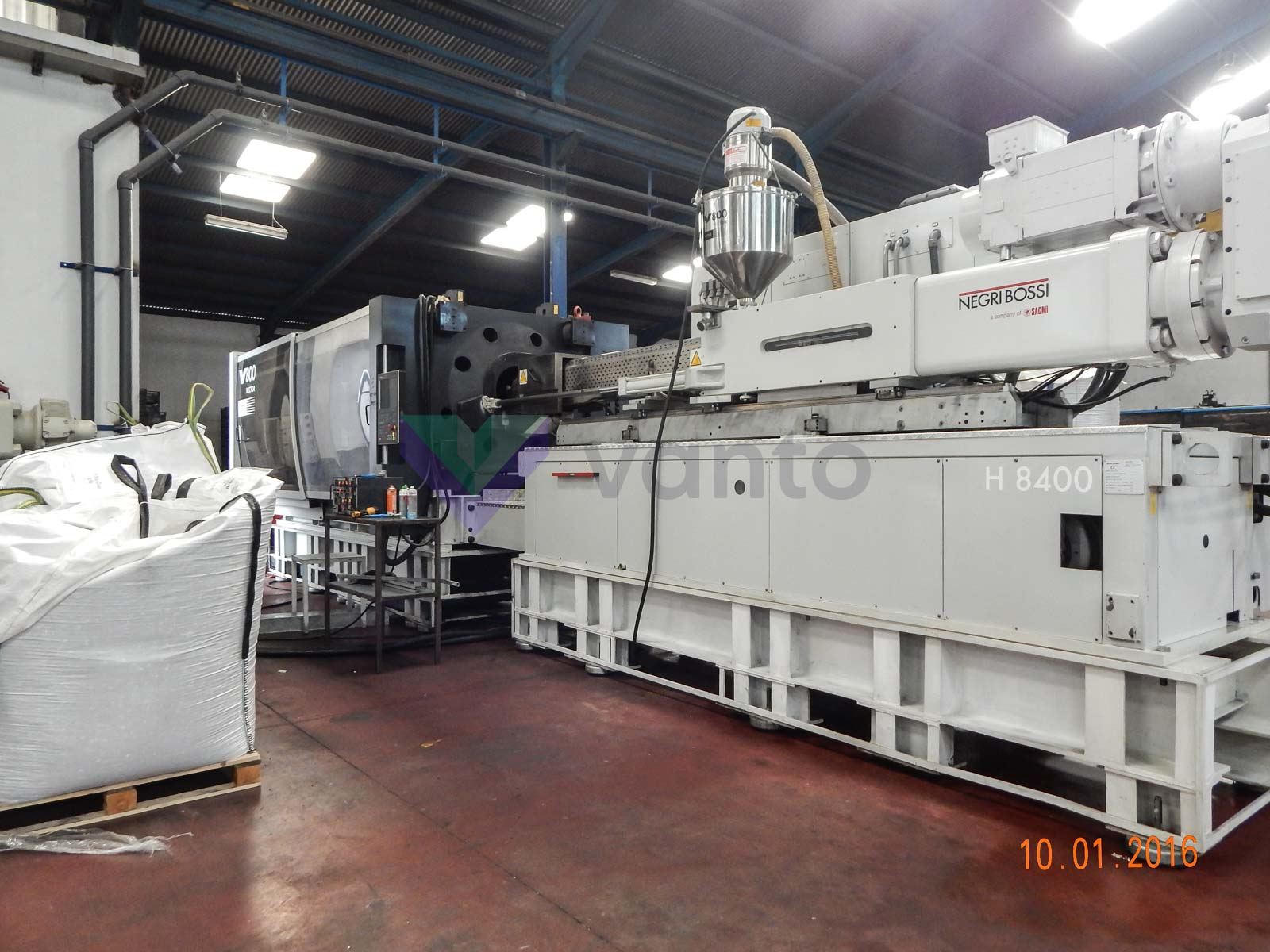NEGRI BOSSI VECTOR V800 4100 800t injection molding machine (2010) id5306