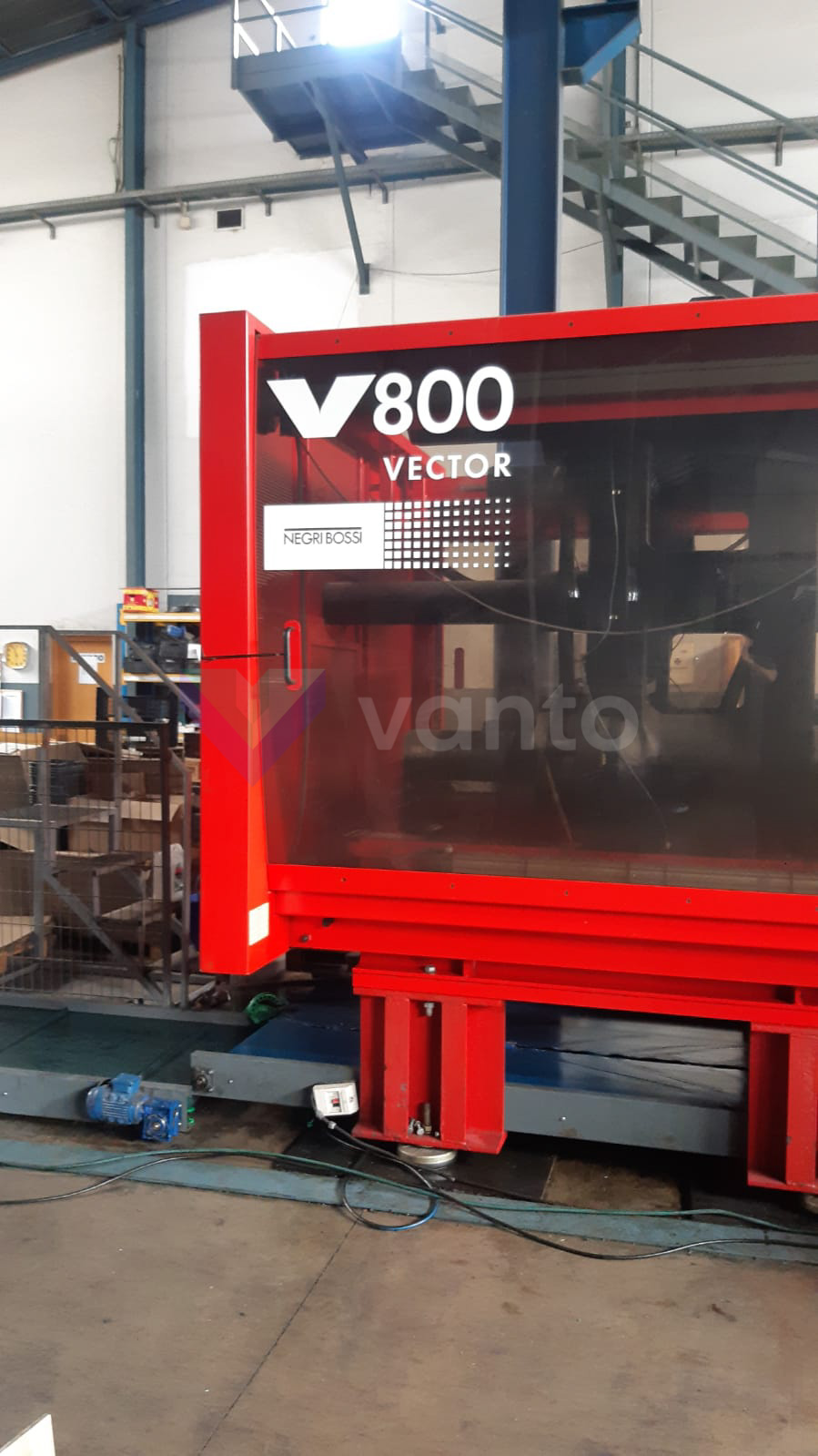 NEGRI BOSSI VECTOR V800 H 6700 800t injection molding machine (2012) id10407