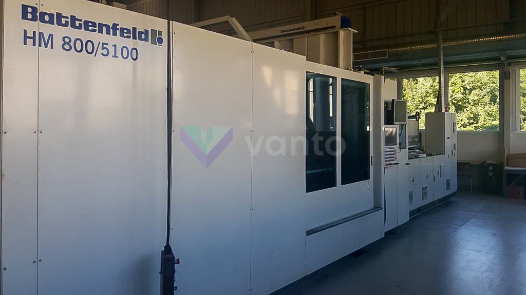 BATTENFELD HM 800 5100 800t injection molding machine (2007) id10430