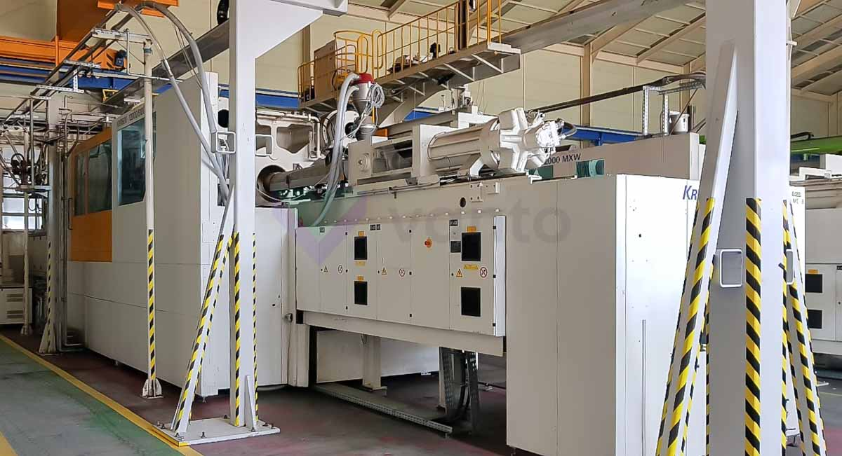 Machine de moulage par injection 2300t KRAUSS MAFFEI KM 2300-17200-12000 MX W (2008) id10117