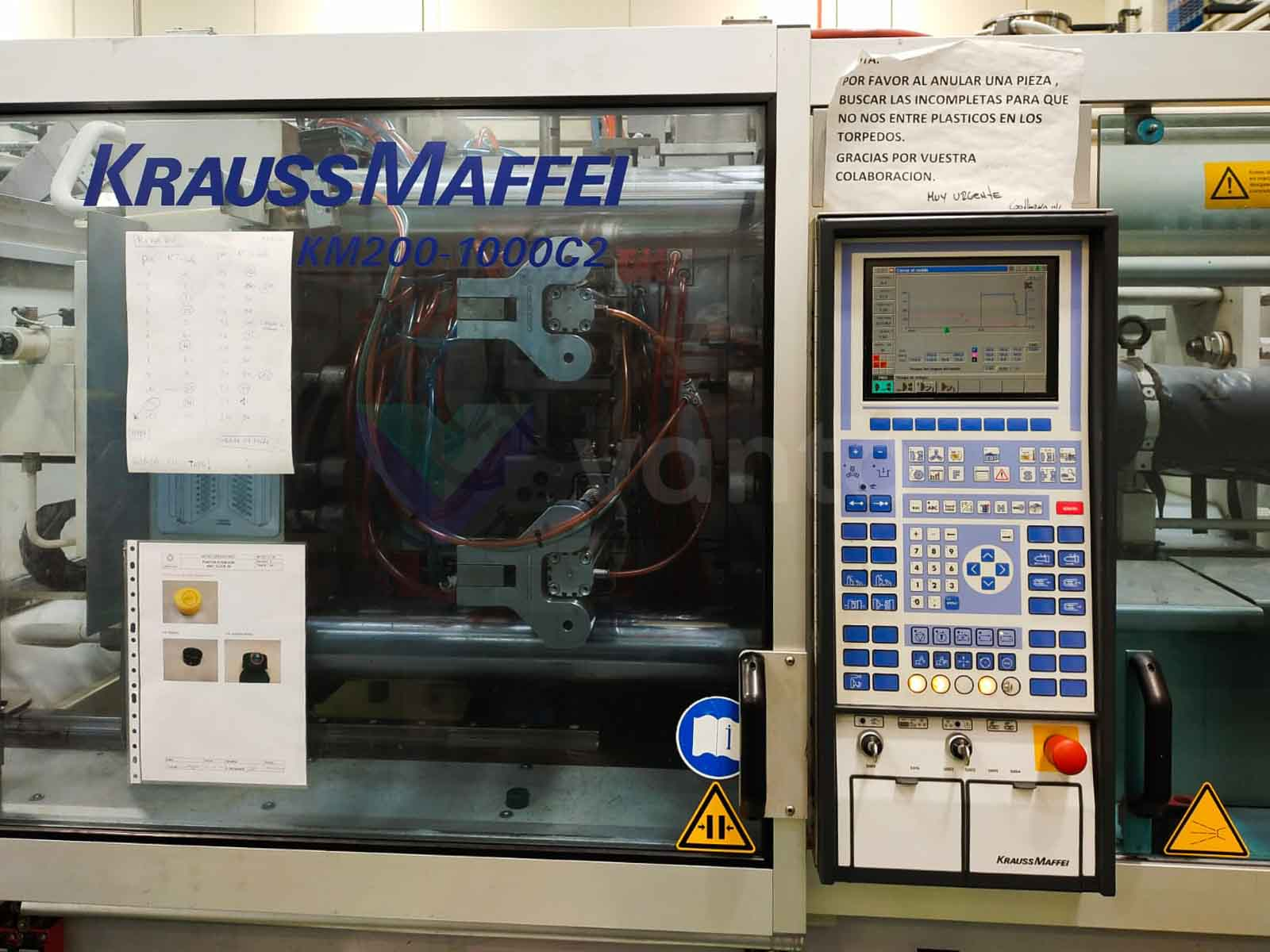 Machine de moulage par injection 200t KRAUSS MAFFEI KM 200-1000 C2/200 (2005) id10547